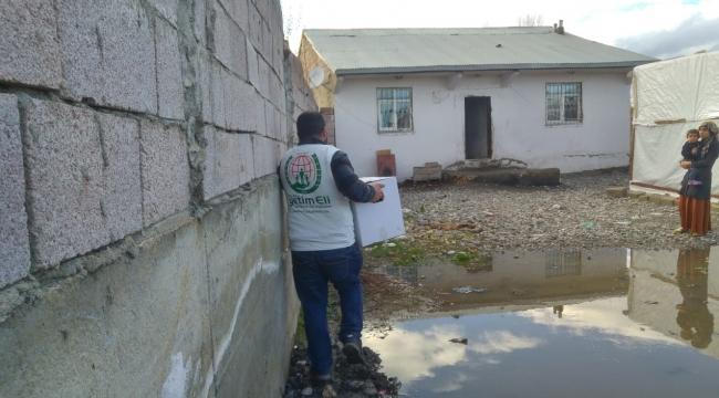 Avrupa Yetim Eli Ağrı'daki ihtiyaç sahibi ailelere yardım eli uzattı