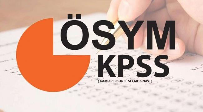 KPSS soru ve cevapları 14 Eylül'de yayımlanacak