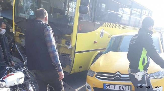 Halk otobüsü büfeye daldı: Bir ölü 9 yaralı