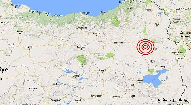 Ağrı'da deprem meydana geldi