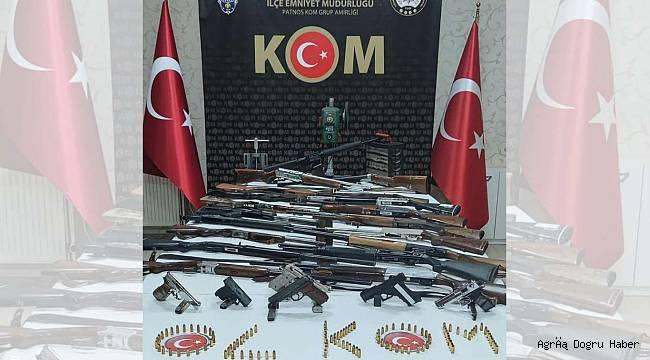 Ağrı da silah kaçakçılarına eş zamanlı operasyon