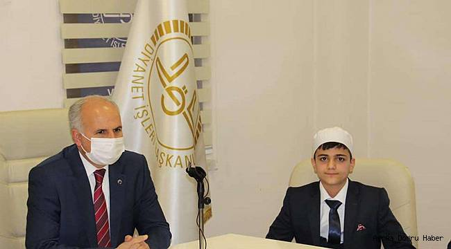 Hafızlık yarışmasında Türkiye birincisi oldu