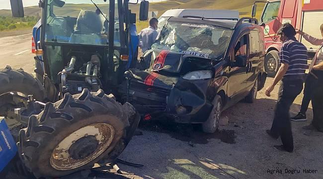 Ağrı'da trafik kazası; 2 yaralı