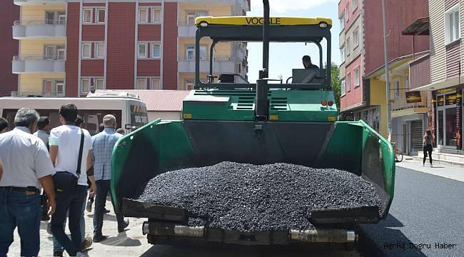 Ağrı'da kurulan asfalt palenti ile yollar yenileniyor