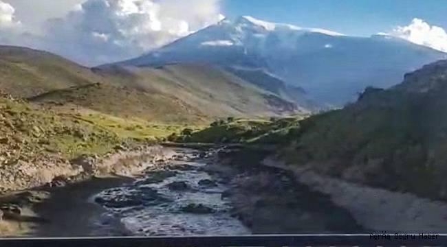 Ağrı Dağı'nda patlama meydana geldi