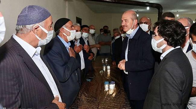 Bakan soylu Ağrı'da bir takım ziyaretlerde bulundu