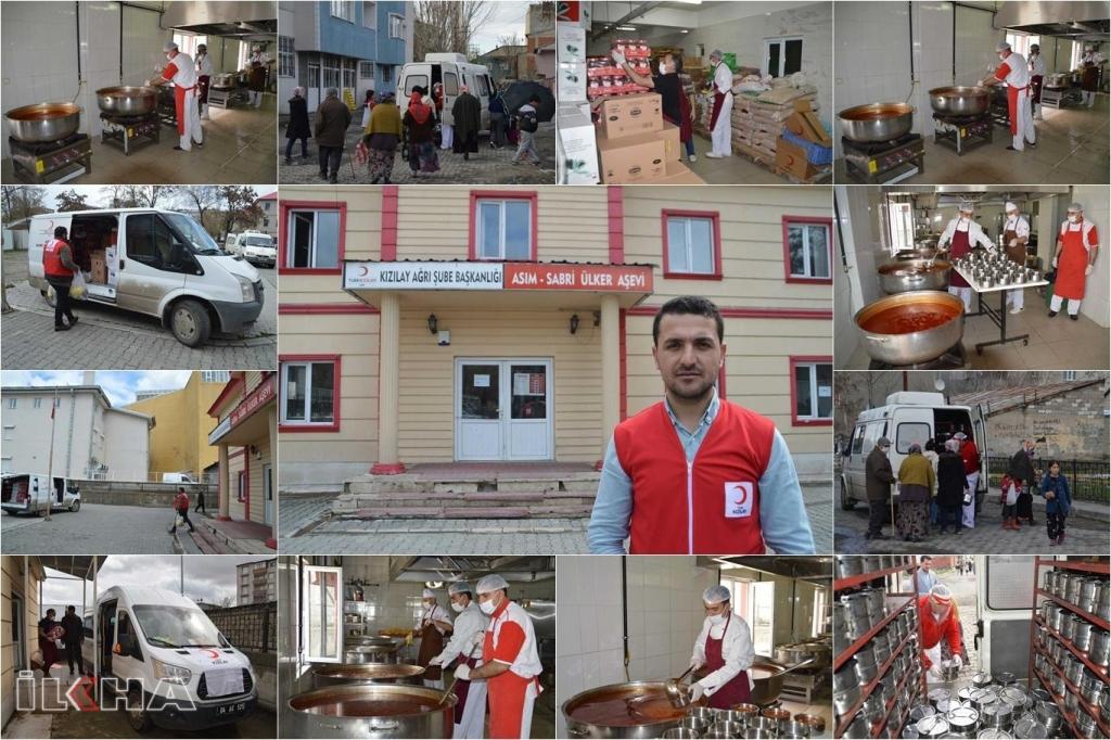 Kızılay Ağrı'da her gün 6 bin kişiye sıcak yemek dağıtıyor